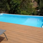 Montaje piscina desmontable con tarima